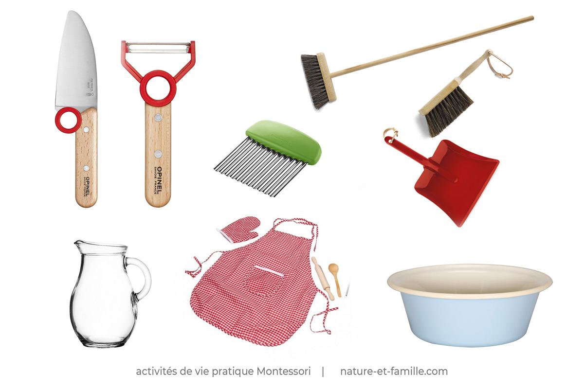 activités vie pratique jeux Montessori nature-et-famille