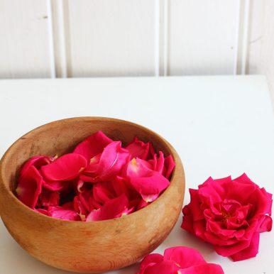 Roses fraîchement cueillies..