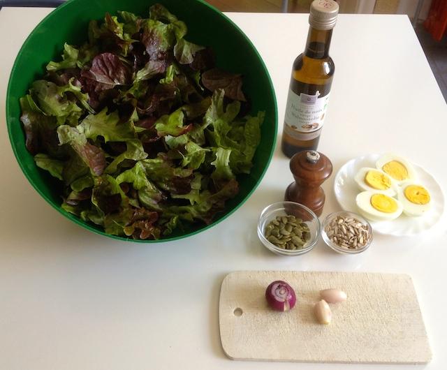 Les ingrédients bio de la salade bio