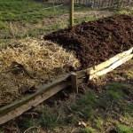 Paille des box des chevaux et compost de l'année précédente