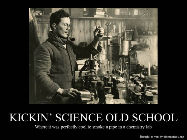 Demotivational Old School Science Pipetmonkey Blog