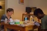 Tissuing specimens in the Dominican Republic