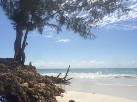 High tide @ Galu Kinondo beach