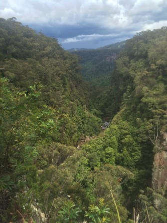 Our last stop before heading to Sydney. This was the view in front of the waterfall (see Twitter pics).
