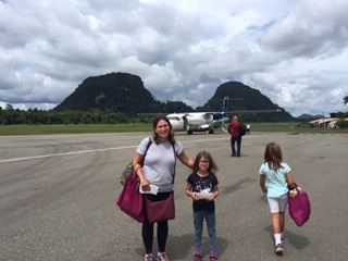 Another day, another flight! We took these small propeller planes across Borneo.