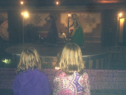 Watching Indian dancers at Choki Dhani.