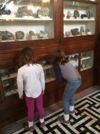 Hannah & Amy checking out all the different minerals
