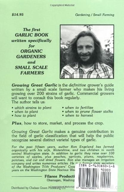 Growing Great Garlic - Back Cover