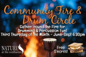 Community Fire & Drum Circle @ Nature At The Confluence Campus