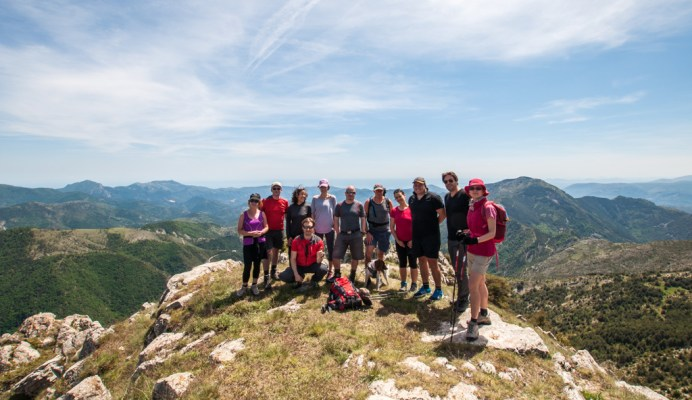 Groupe en haut de la Cime de Roccassiéra