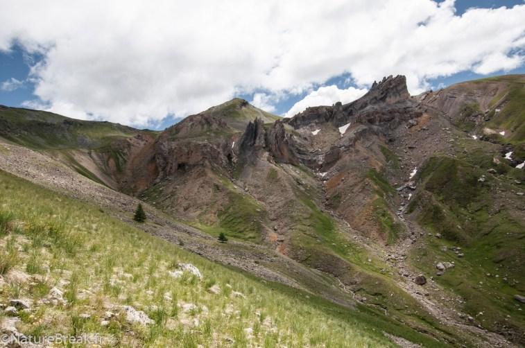 Vue sur le Col de Fer et Aiguilles de Tortisse