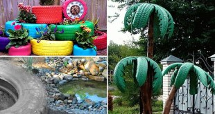 8 Attractive garden ideas by using Old Tires | Nature Bring