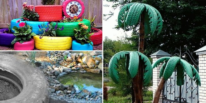 8 attractive garden ideas by using old tires nature bring naturebring
