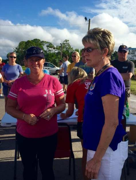 Erin Daly and Diane Rowden discuss the best way to assist Hurricane Hermine victims before heading out to do the work.