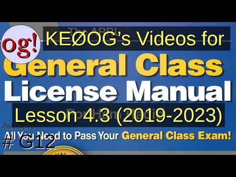 Amateur General Lesson 4.3, Basic Components (G12)