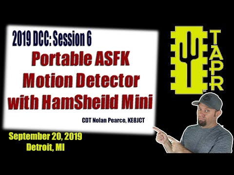 Portable AFSK Motion Detector with Hamsheild Mini | TAPR