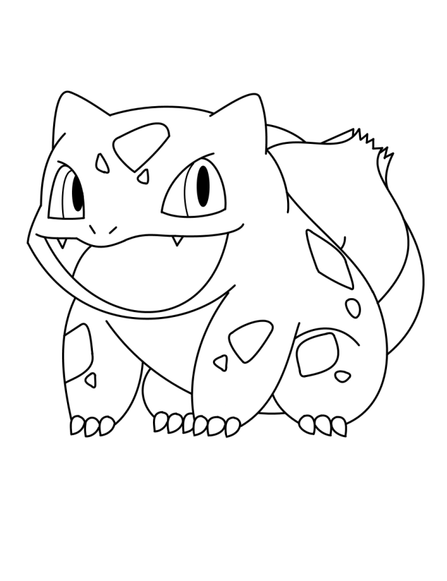 Printable Bulbasaur coloring page for both aldults and kids.