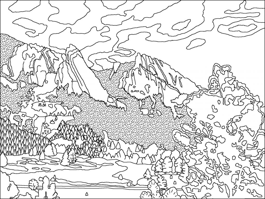 Printable Avalanche Coloring Page For Both Aldults And Kids