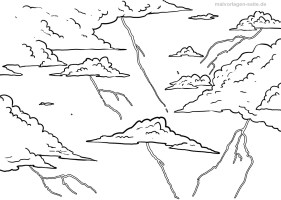 malvorlage gewitter 1   Nature Coloring Pages