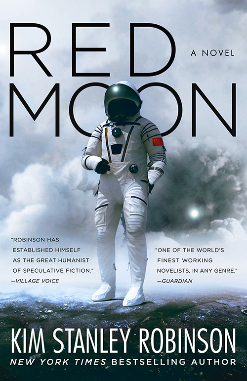 "Cover of the novel ""Red Moon."""