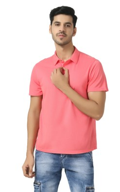 Bamboo clothing Sustainable pink Polo T shirt 4