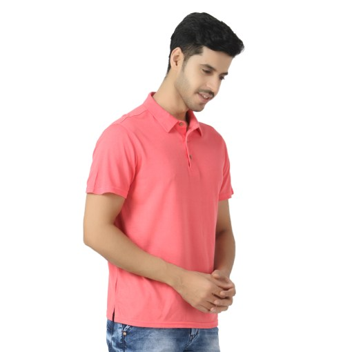 Bamboo clothing Sustainable pink Polo T shirt 6