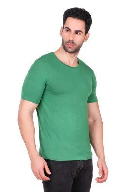 Naturefab Mens Bamboo Clothing T Shirt Green Roundneck 4