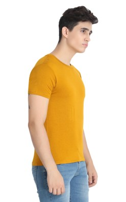 Naturefab Mens Bamboo Clothing T Shirt Mustard Roundneck 6