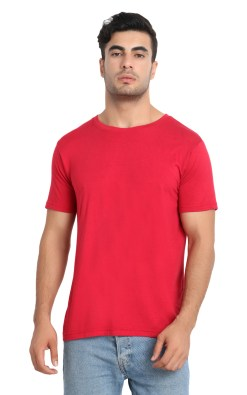 Naturefab Mens Bamboo Clothing T Shirt Red maroon Roundneck 3