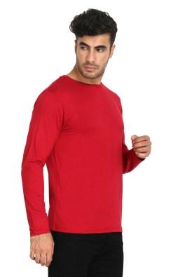 Naturefab Mens Bamboo Sun UV Protective Clothing Full sleeve T Shirt Red Maroon 5