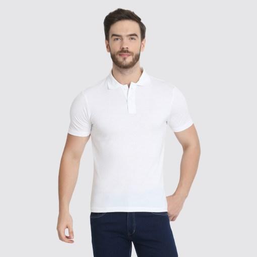 Naturefab Mens Sustainable Bamboo ClothingWhite Polo Tshirt 1
