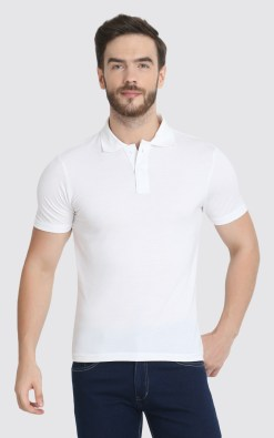 Naturefab Mens Sustainable Bamboo ClothingWhite Polo Tshirt 1