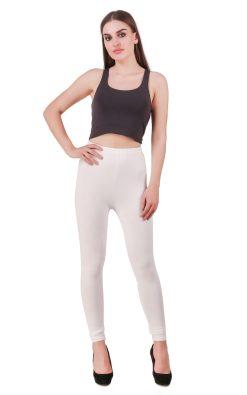 Naturefab Womens Sustainable Bamboo Clothing Leggings White 2
