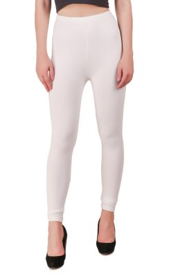 Naturefab Womens Sustainable Bamboo Clothing Leggings White 6