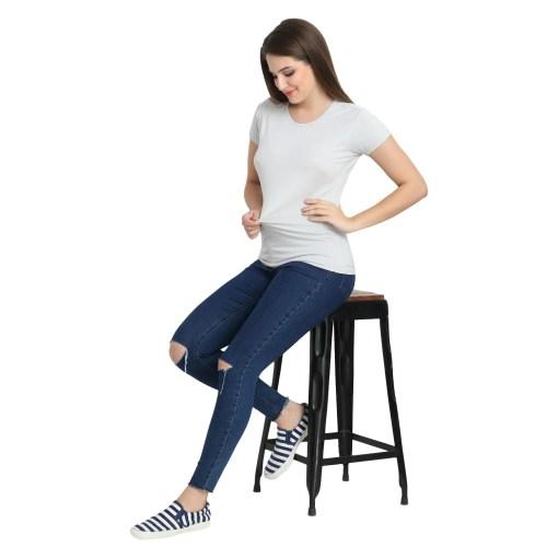 Naturefab Womens Sustainable Bamboo Clothing T Shirt Grey 1
