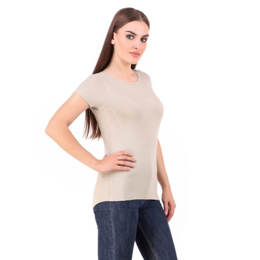Naturefab Womens Sustainable Bamboo Fashion T Shirt Musk Grey 3
