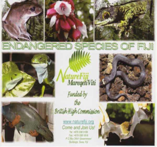 CD Rom: Endangered Species of Fiji