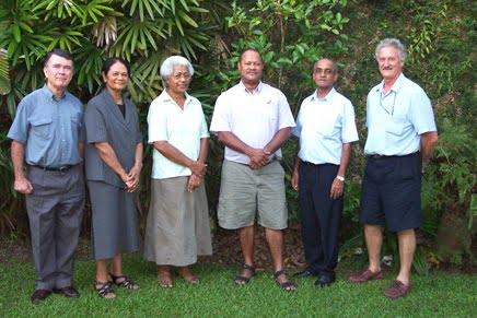 From left: Robin Yarrow, Mere Pulea, Suliana Siwatibau, Marika Tuiwawa, Dilip Khatri, Dick Watling (absent Winston Thompson).