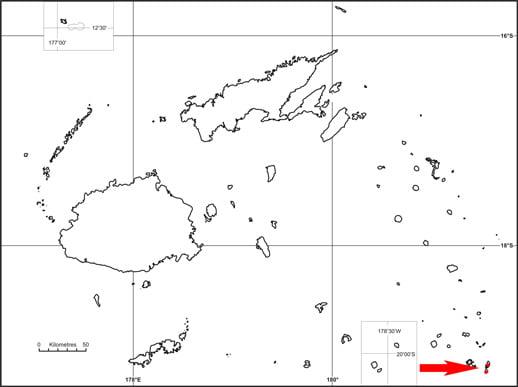Ogea monarch (Mayrornis versicolor) map