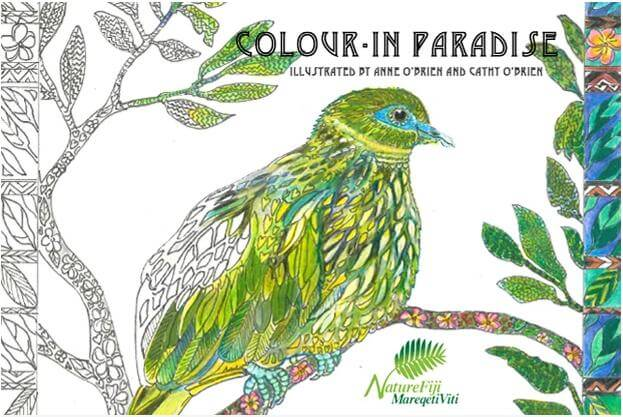 An adult colouring book for conservation