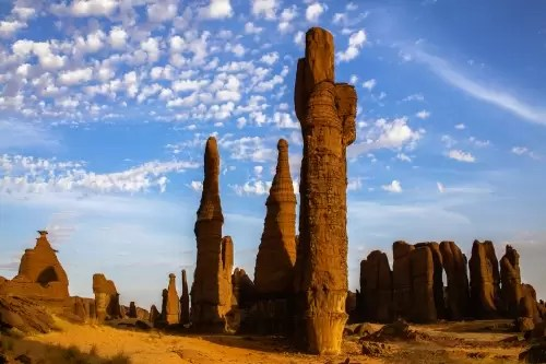 Bizarre rock formations in Ennedi