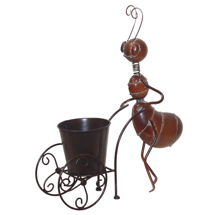 Formiga com Carrinho (41x12,5x39cm) - vintage bronze