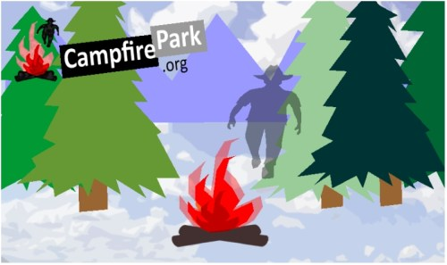 Attend a Campfire Talk<br><span style='color:#585858;font-family:Courier;font-size:20px;'>At Campfire Park</span>