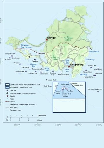 map of st maarten