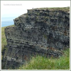 Rock strata at the Cliffs of Moher