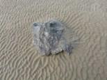 Sand ripple patterns on the beach