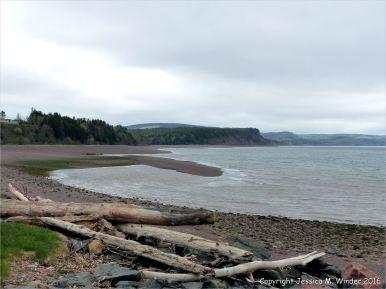 View of the shore at Spencer's Island, Nova Scotia, Canada.