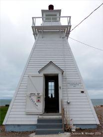 The lighthouse/museum at Spencer's island, Nova Scotia, Canada.