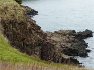 North Mountain Basalt of Jurassic age at Cap d'Or in Nova Scotia, Canada.