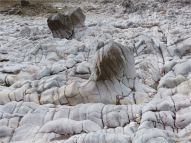 Natural sculpturing of limestone on the Worms Head Causeway in Gower, South Wales.